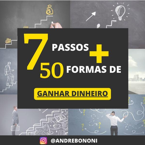 Imagem principal do produto 7 PASSOS + 50 FORMAS DE GANHAR DINHEIRO