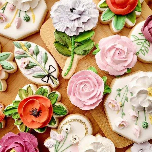 Imagem principal do produto Flores em Glacê para Biscoitos