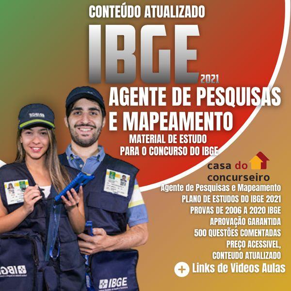 Imagem principal do produto APOSTILA IBGE 2021 - AGENTE DE PESQUISA E MAPEAMENTO E SUPERVISOR DE COLETA E QUALIDADE