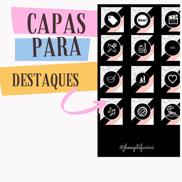 Imagem principal do produto Kit capas para destaques instagram