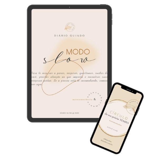 Imagem principal do produto DIÁRIO GUIADO - MODO SLOW -  ''por um dia a dia com + significado''