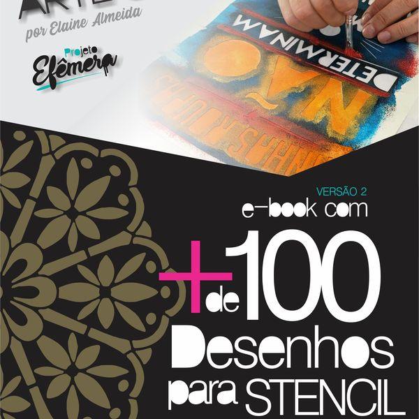 Imagem principal do produto E-book com mais de 100 desenhos para stencil - V2