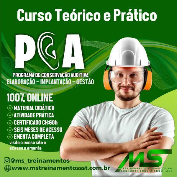 Imagem principal do produto CURSO ONLINE PROGRAMA DE CONSERVAÇÃO AUDITIVA (PCA) - ELABORAÇÃO - IMPLANTAÇÃO - GESTÃO