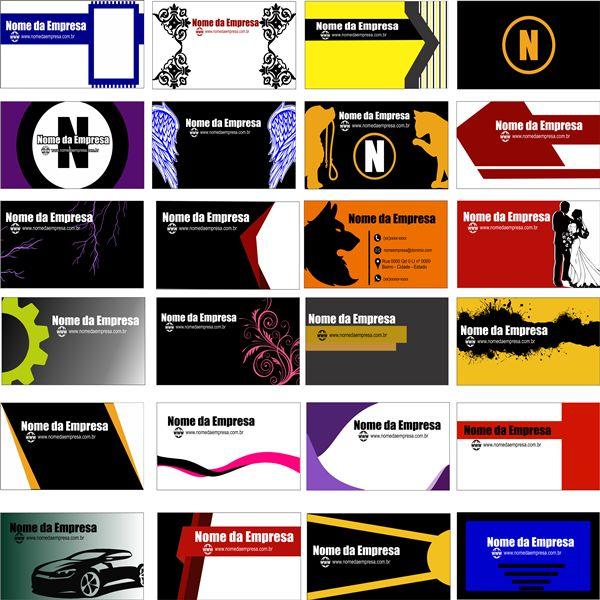 Imagem principal do produto editable business cards ( files for corel draw )