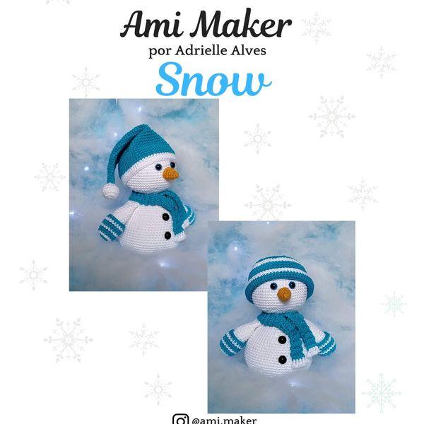 Crochet snowman amigurumi pattern | Ganchillo amigurumi, Patrones ... | 600x600