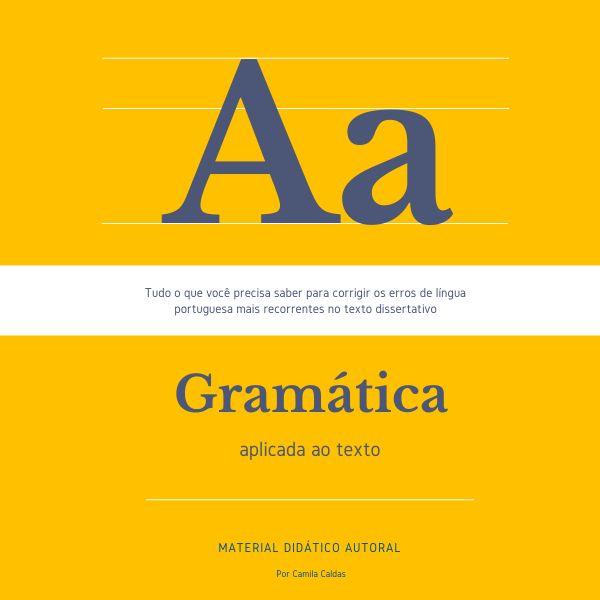 Imagem principal do produto Gramática Aplicada ao Texto