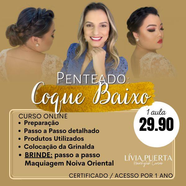 Imagem principal do produto CURSO DE PENTEADO - COQUE BAIXO COM TRANÇA