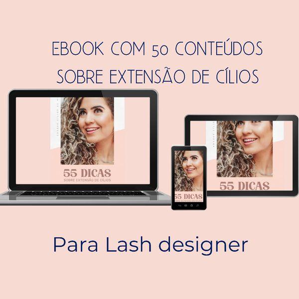 Imagem principal do produto 50 conteúdos para uma lash designer postar nas redes sociais