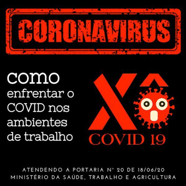 Imagem principal do produto Ações para o Enfrentamento ao COVID-19 nos Ambientes de Trabalho -