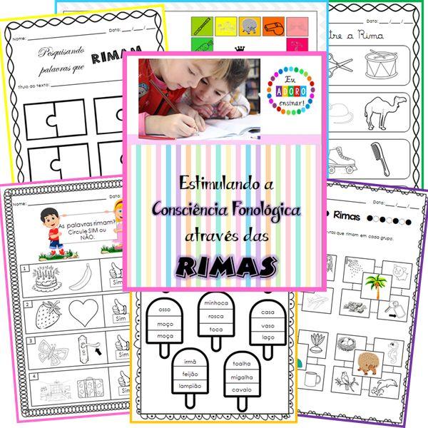 Imagem principal do produto Consciência Fonológica - Rimas (Super Kit)