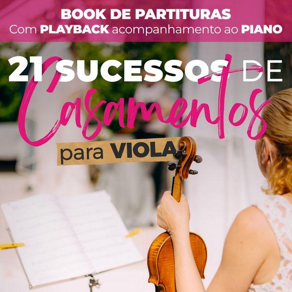 Imagem principal do produto Book de Partituras para Casamento - Viola - Volume 1