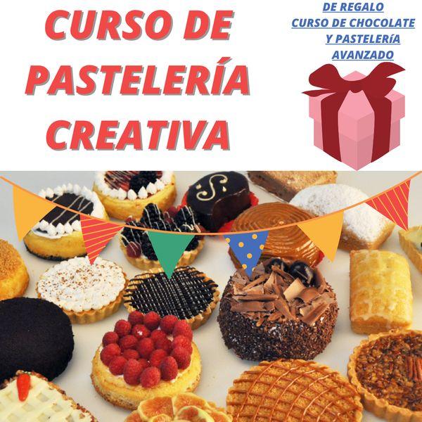Imagem principal do produto Curso de Pastelería Creativa+Curso de Chocolatería+Pasteria y Repostería Nivel Avanzado