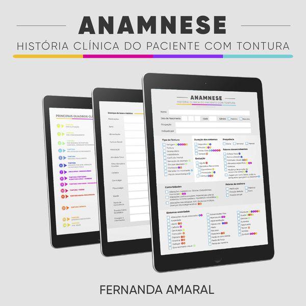 Imagem principal do produto ANAMNESE - História Clínica do Paciente com Tontura