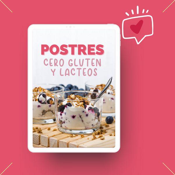 Imagem principal do produto Recetario de postres cero gluten y lácteos