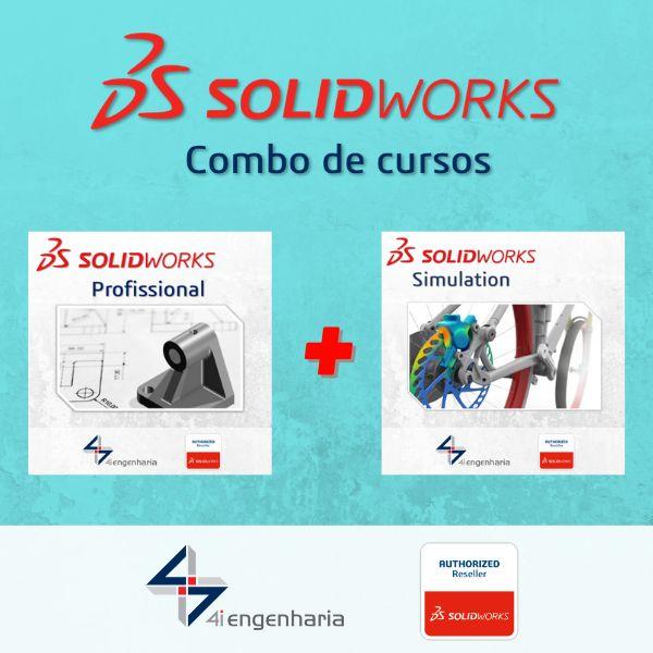 Imagem principal do produto Cursos SOLIDWORKS Profissional e SOLIDWORKS Simulation