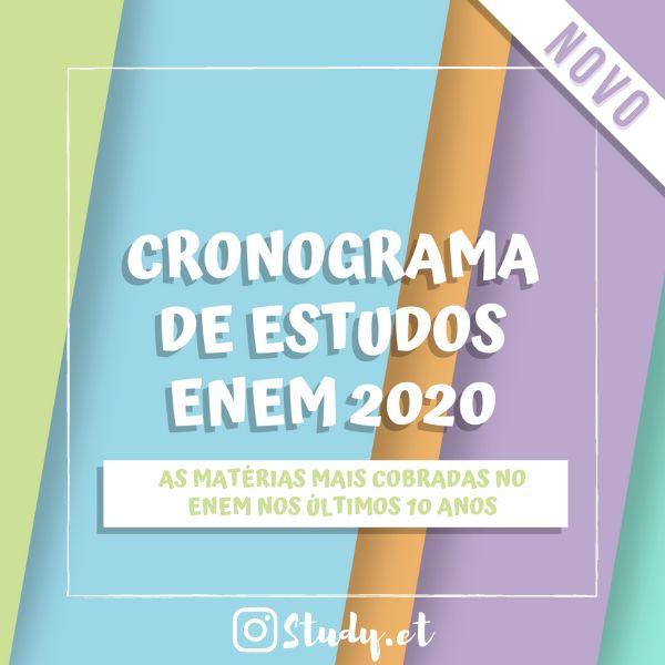 Imagem principal do produto Cronograma de Estudos ENEM 2020 - Matérias Recorrentes