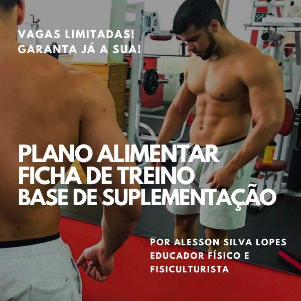 Imagem principal do produto Consultoria Online Esportiva 3 em 1 - Plano Alimentar/Ficha de Treino e Base de Suplementação