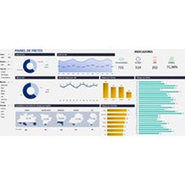 Imagem principal do produto Dashboard para Acompanhamento e Controle de Fretes em Excel