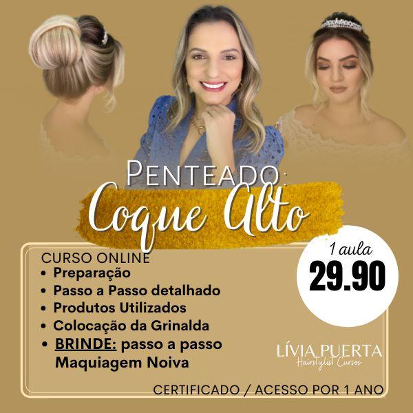Imagem principal do produto CURSO DE PENTEADO - COQUE ALTO