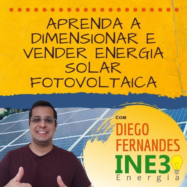 Imagem principal do produto Aprenda a dimensionar e vender energia solar fotovoltaica