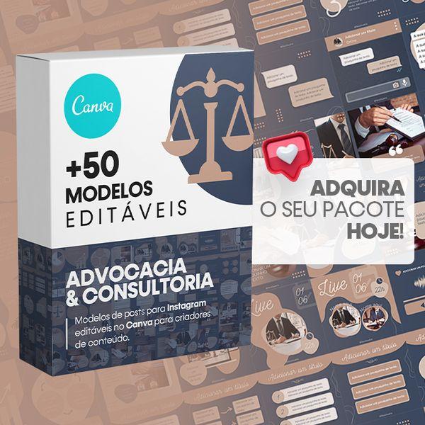 Imagem principal do produto Canva +50 Templates Advocacia & Consultoria Para Instagram