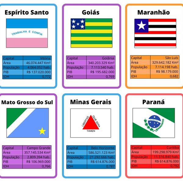 Imagem principal do produto Flashcards Estados do Brasil