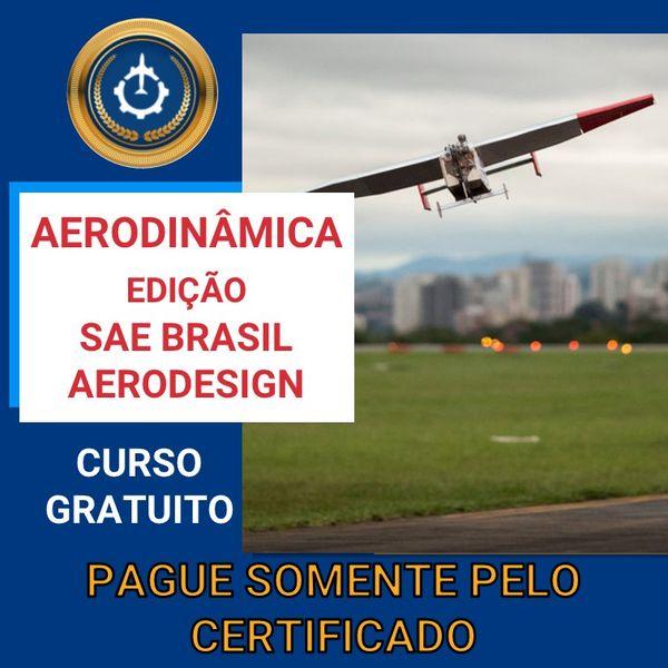 Imagem principal do produto Curso Gratuito de Aerodinâmica - Edição SAE Brasil Aerodesign