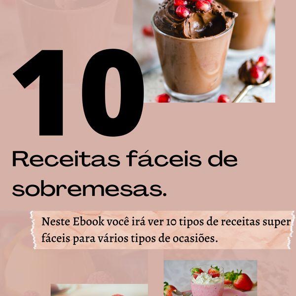 Imagem principal do produto 10 Receitas fáceis de sobremesas