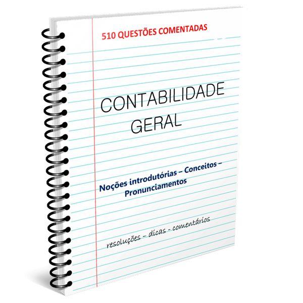 Imagem principal do produto Ebook 1500+ QUESTÕES COMENTADAS - CONTABILIDADE GERAL
