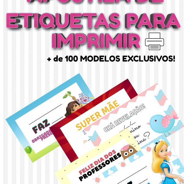 Imagem principal do produto APOSTILA DE ETIQUETAS PARA IMPRIMIR