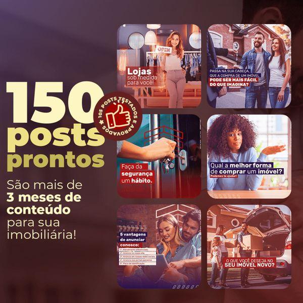 Imagem principal do produto   150 Posts Prontos para imobiliária