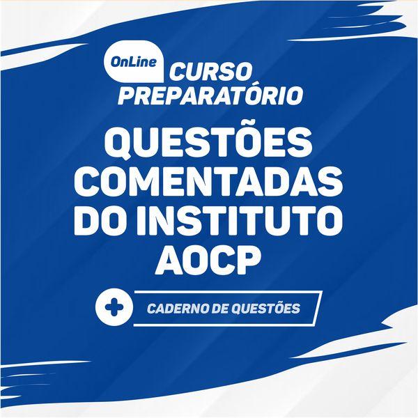 Imagem principal do produto Curso de questões comentadas de Português - INSTITUTO AOCP