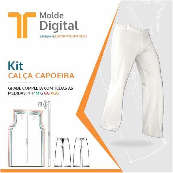 Imagem principal do produto kit molde Digital Calça Capoeira