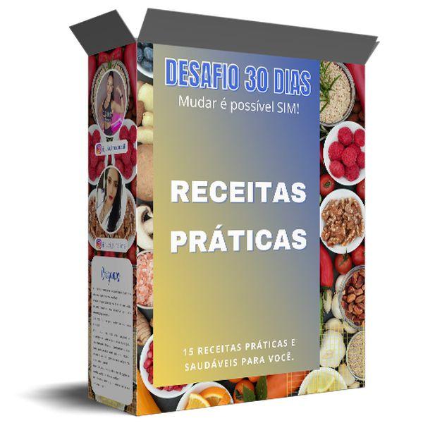 Imagem principal do produto E-BOOK RECEITAS PRÁTICAS DESAFIO 30 DIAS