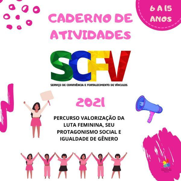 Imagem principal do produto CADERNO DE ATIVIDADES DO SCFV 06 A 15 ANOS- VALORIZAÇÃO