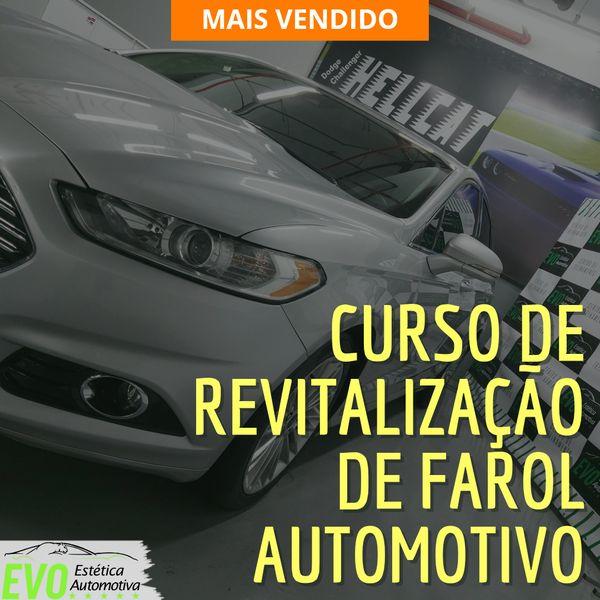 Imagem principal do produto Curso de Revitalização de Farol Automotivo