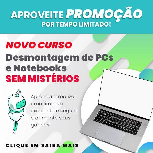 Imagem principal do produto Desmontagem de PCs e notebooks SEM MISTÉRIOS