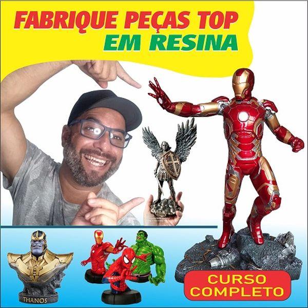 Imagem principal do produto ESTATUAS EM RESINA FABRIQUE VC MESMO SANTAS BUDAS MARVEL