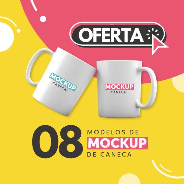 Imagem principal do produto 8 Mockups Incríveis para Canecas