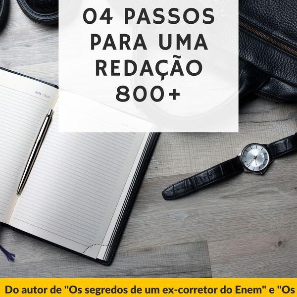 Imagem principal do produto 04 passos para uma redação 800+