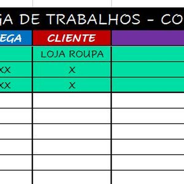 Imagem principal do produto ENTREGA DE TRABALHOS - CONTROLE