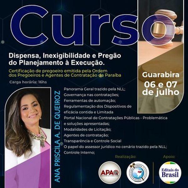Imagem principal do produto CURSO ON-LINE DISPENSA, INEXIGIBILIDADE E PREGÃO. DO PLANEJAMENTO À EXECUÇÃO