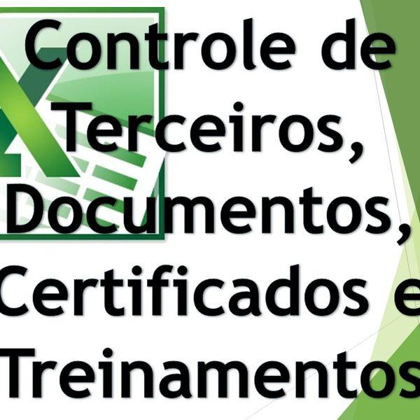 Imagem principal do produto Controle De Terceiros Documentos Treinamentos E Certificados