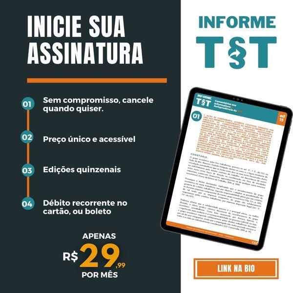 Imagem principal do produto INFORME TST - Comentários aos Informativos & Jurisprudência do TST