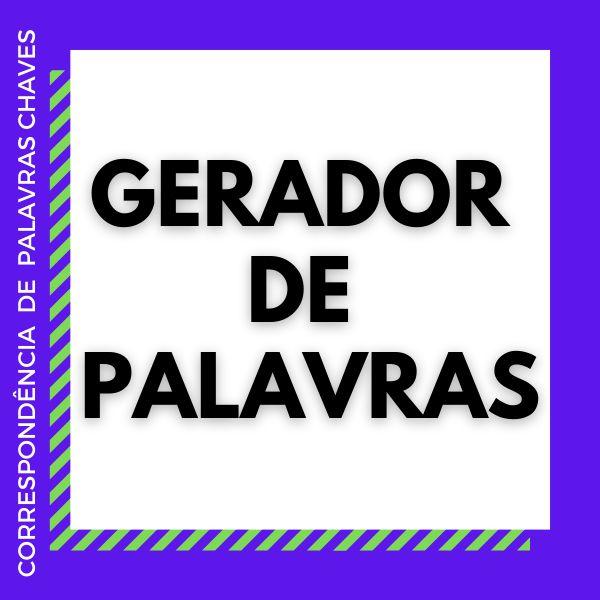 Imagem principal do produto Gerador De Correspondência De Palavras-Chaves