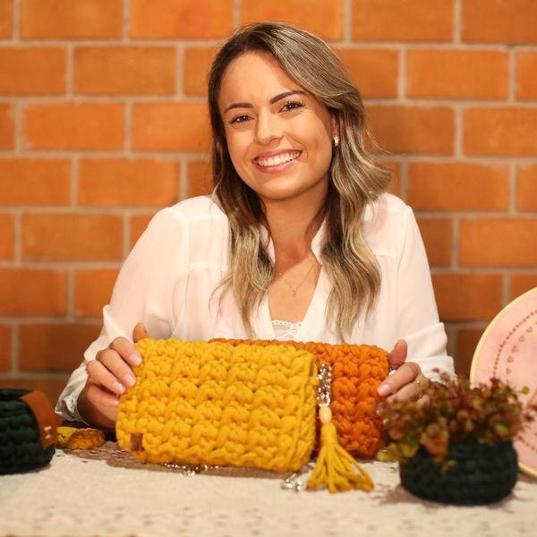 Imagem principal do produto Nó de Crochê - Carteira Primavera