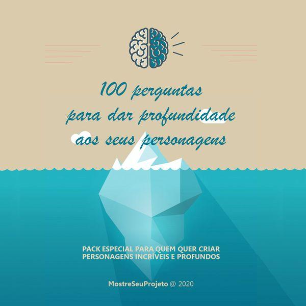 Imagem principal do produto [e-book] 100 perguntas para desenvolver seus personagens
