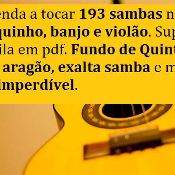 Imagem principal do produto 193 SAMBAS PARA VOCÊ APREENDER A TOCAR NO CAVAQUINHO, BANJO E VIOLÃO