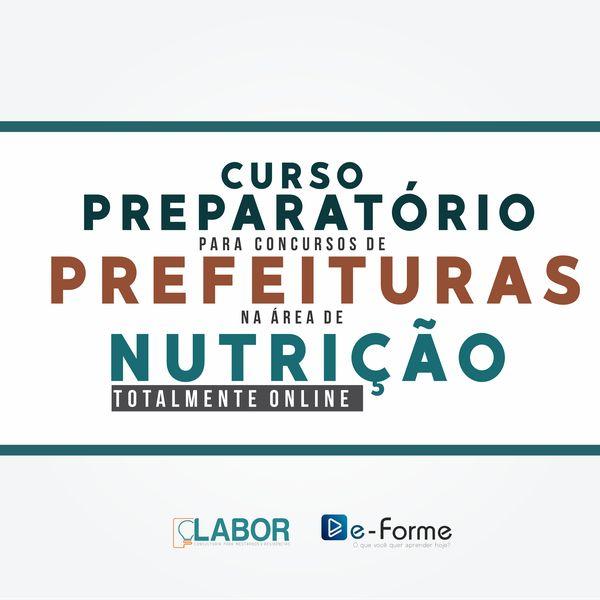 Imagem principal do produto Curso Online para CONCURSOS DE PREFEITURA na área de NUTRIÇÃO