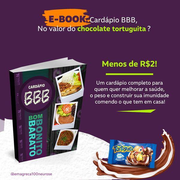 Imagem principal do produto E-Book - Cardápio BBB - Bom Bonito e Barato